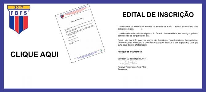 Edital de Inscrição